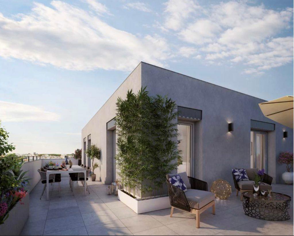 Appartement terrasse dernier étage Villeurbanne gratte ciel - Le Faubourgs